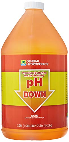 General Hydroponics pH Down Liquid Premium Buffering For Stability, 1-Gallon