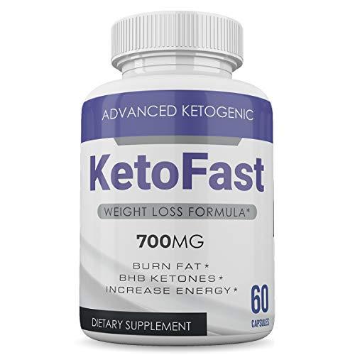 Keto Fast - Advanced Ketogenic Weight Loss Formula - 700MG - Burn Fat - BHB Ketones - Increase Energy - 60 Capsules - 3 Month Supply 2
