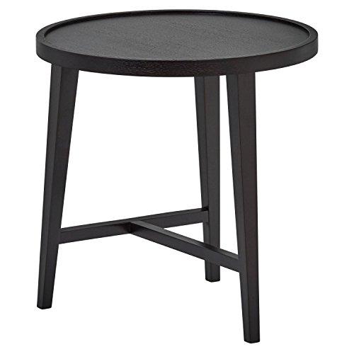 Marchio Amazon -Rivet, tavolinetto rotondo in legno, impilabile, design moderno, larghezza 53 cm,...