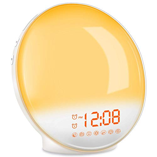 TITIROBA Wake Up Light, Sunrise Alarm Clock Radio, Bedside...