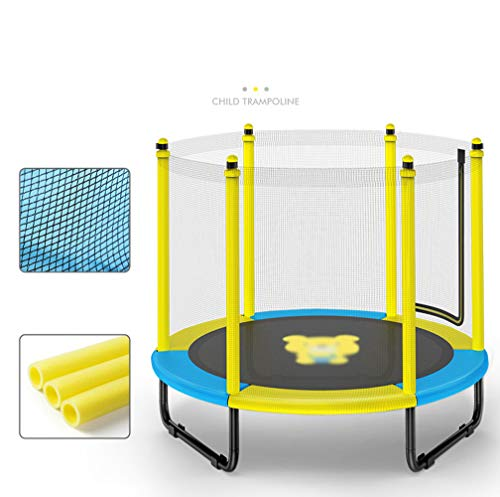JIYU Fitness Trampoline Children/Toddler, Rebounder Trampoline with Handrail Fence Exercise Trampoline for Adults Kids Indoor/Outdoor Home Gym Equipment - Max Weight 200kg 4