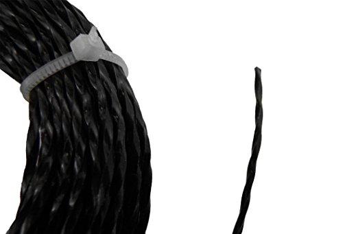 Cavo intrecciato per decespugliatore e tagliabordi, 15 m di lunghezza, riduzione del rumore