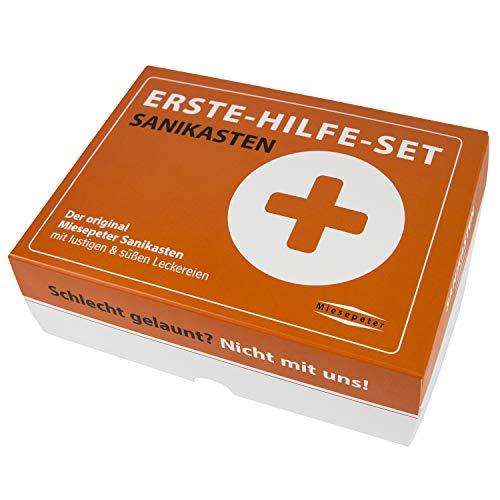 Miesepeter® Sanikasten   ERSTE-HILFE- SET Geschenk-Box, witziges Geschenkeset   Scherzartikel (Standard Edition, L)