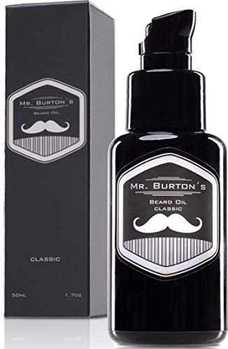 Olio da barba uomo Mr. Burton's versione CLASSIC profumo inconfondibile – Made in Germany - flacone di olio da barba da 50 ml – prodotto di alta qualità
