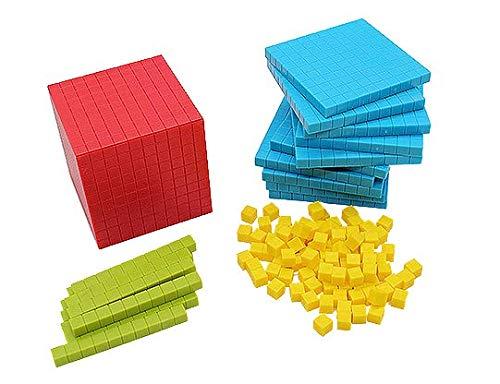 十進法の算数ブロック教材(収納ケース付き) さんすう教材 数の概念 一の位・十の位・百の位の位の概念の...