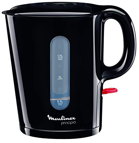 Moulinex Principio - Hervidor de agua (capacidad de 1.7 l, filtro anti-impurezas, paro automático), color negro