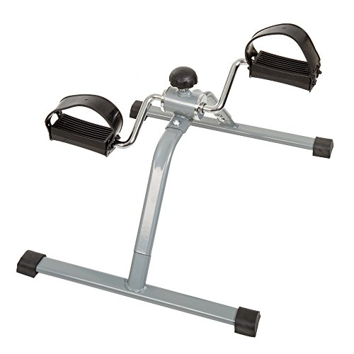 Wakeman Portable Fitness Pedal Stationary Under Desk Indoor Exercise Machine Bike for Arms, Legs, Physical Therapy or Calorie Burner