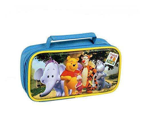 KICKKICK Astuccio Winnie Pooh Disney Colorato con 1 Zip 19x10x5.3cm Astucci per Matite Penne per la...