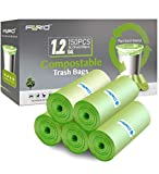 Compostable Trash Bags - FORID 1.2 Gallon Small Garbage Bags 150 Count Mini Strong Trash Can Liners...