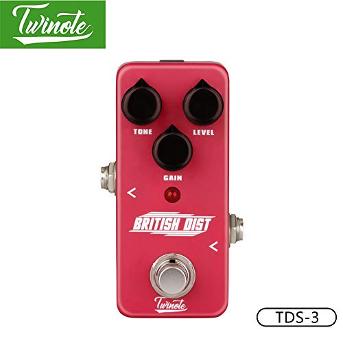 Twinote TDS-3 Guitar Pedal With Modern American Distortion Tone For Amplifier