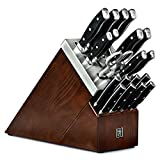 Henckels Forged Accent 20 Piece Self Sharpening Knife Block Set with Black Handles