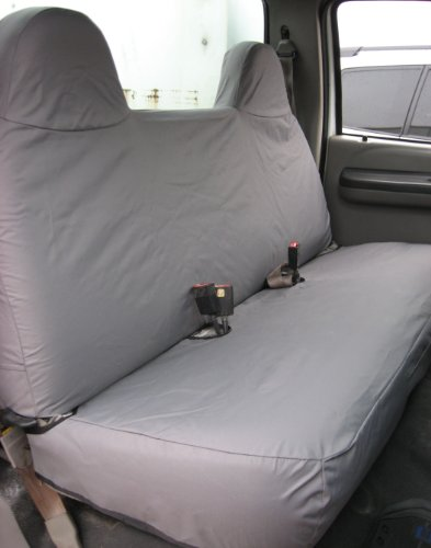 Durafit Seat Covers, F236-C8, 1999-2007 Ford F250-F550 Work Truck, Front Solid Bench Seat, Custom Exact Fit Seat Covers, Gray Charcoal, Endura Fabric