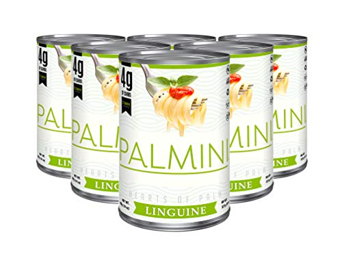 Palmini Low Carb Linguine | 4g of Carbs | As Seen On Shark Tank | Hearts of Palm Pasta (14 Ounce - Pack of 6)