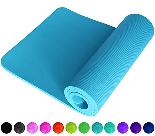 REFIT High Performance Fitnessmatte in Hellblau Himmelblau Lightblue SkyBlue rutschfest gelenkschonend dick weich hautfreundlich 183 x 61 x 1.5 cm Trageband Fitness Yoga Gymnastik Pilates