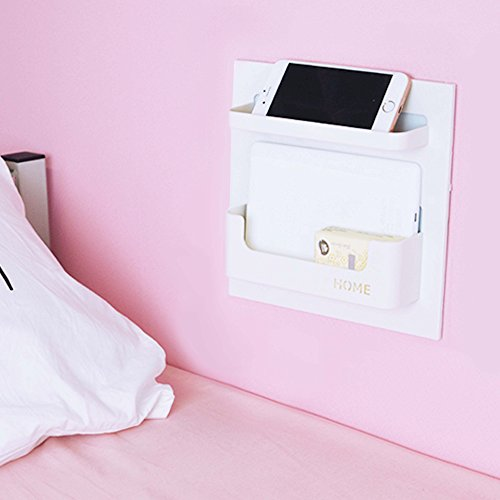 Easy Eco Life Bedside Shelf Accessories Organizer- Wall Mount...
