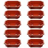 Holibanna 10 Unidades de Macetas de Entrenamiento de Bonsai Rectangular Macetas de rbol de Bonsai Macetas de Flores con Orificio de Drenaje Apilables Suculentas Macetas de Cactus