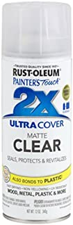 Rust-Oleum 249087 Spray Paint Painter's Touch 2X Ultra Cover, 12 Oz, Matte Clear