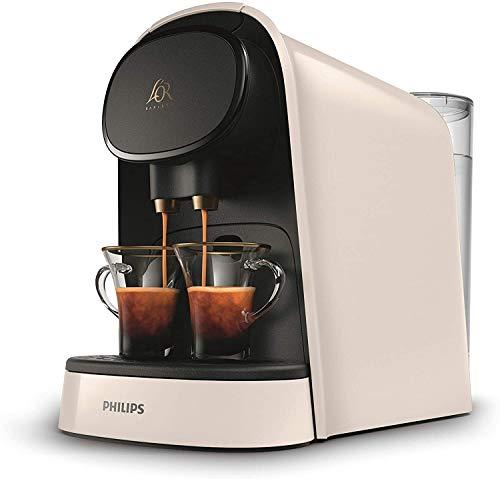 L'OR Barista LM8012/00 Machine à Café à Capsule Classique ou Double, 19 Bars de Pression, Réservoir 1 L, 9 Capsules Incluses - Blanc Satiné