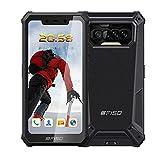 Telephone Portable 4G,IIIF150 B2021 Smartphone Incassable,Android 10 Écran De 5,86 Pouces, 6Go + 64Go (SD 256), Duad Caméra 13MP AI, Batterie 8000mAh, Téléphone Antichoc Étanche,/NFC/OTG/GPS-Noir