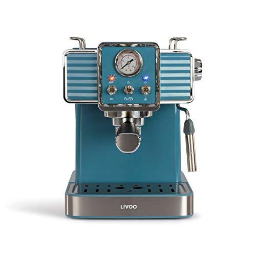 LIVOO Feel good moments - Machine à Café Expresso DOD174 Bleu