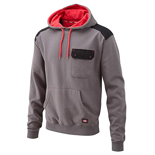 Lee Cooper s Men'Panelled Hoodie Sweat-Shirt, grau