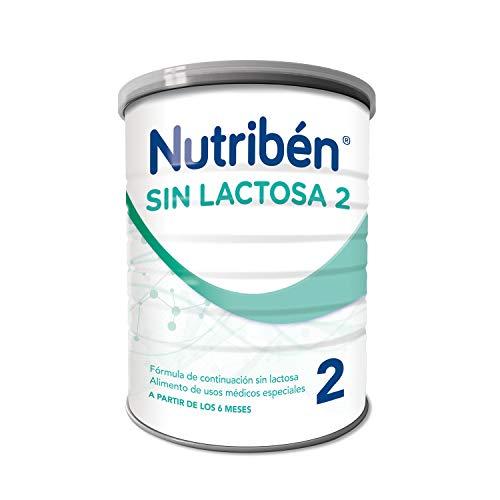 Nutribén Sin Lactosa 2 Leche en polvo de Continuación para bebés intolerantes a la lactosa - A partir de 6 meses- 1 unidad 400g