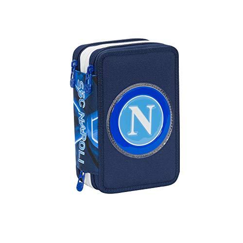 ssc napoli Forza Napoli Astuccio, 20 Cm, Blue Deep
