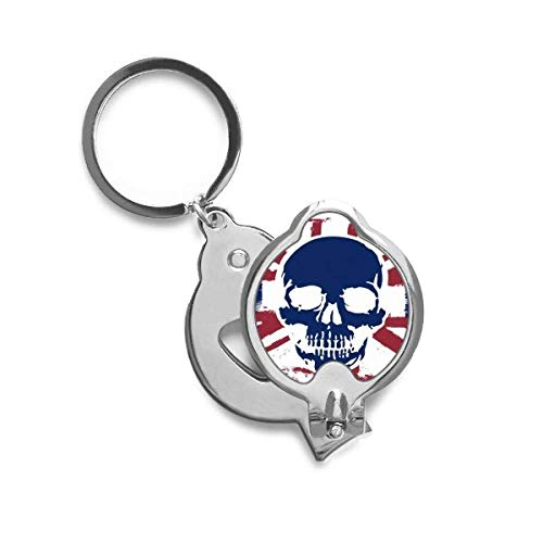 Human Skeleton UK Union Jack Flag Finger Nail Clippers Scissor Stainless Steel Cutter