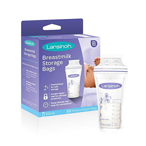 Lansinoh Breastmilk Storage Bags, 50 count