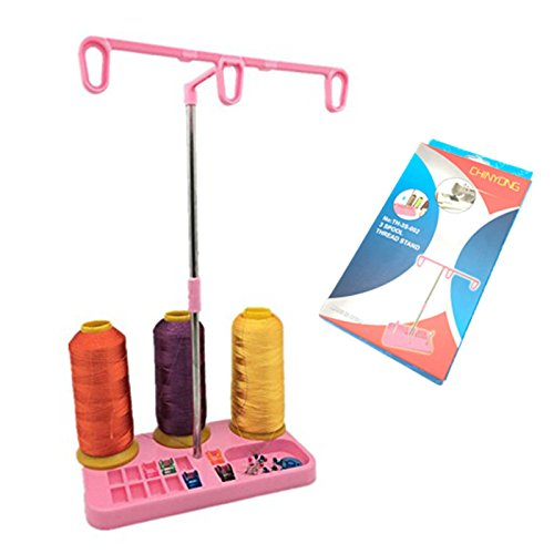 YEQIN Thread Spool Holder Stand For Sewing Embroidery Sewing Machian Accessories (pink)