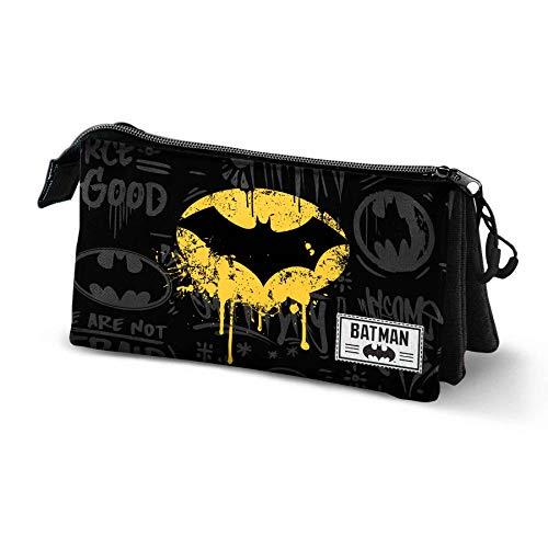 KARACTERMANIA Batman Shadow-Astuccio Portatutto Triplo HS, Black