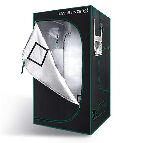 MarsHydro Growbox - Tienda de campaña para cultivo (120 x 120 x 200 cm, reflectante, ventilada, resistente al agua, para plantas de interior grandes)