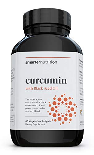 Smarter Nutrition Curcumin - Potency and Absorption in a SoftGel - The Most Active Form of Curcuminoid - 95% Tetra-Hydro Curcuminoids (30 Servings)