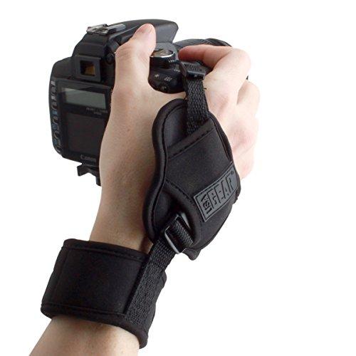 USA GEAR Empuñadura de Muñeca Correa de Mano para Cámara de Fotos Réflex Compatible con Canon,Nikon,Sony,Pentax y Muchas más. Diseño Negro