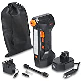 VonHaus 12v Electric Digital Tyre Inflator – Portable Air Compressor - For Bike, Car, Boat, Motorcycle, Ball - 125 PSI With LCD Display, Emergency Light, Schrader Valve, Narrow Pin Attachments