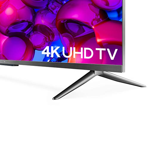 41LdbwCvV1L TCL 139 cm (55 inches) AI 4K Extremely HD Licensed Android Sensible LED TV 55P715 (Silver) (2020 Mannequin)   With Distant Much less Voice Management