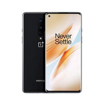 OnePlus 8 - Smartphone Débloqué 5G (Ecran 6,55 pouces Amoled 90Hz - 8Go RAM - 128Go Stockage) - 2 ans garantie constructeur - Noir Onyx [Version française]