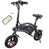 Kugoo B1 Bicicleta Eléctrica Plegable para Adultos E-Bike, Soporte de Control de App, Velocidad...