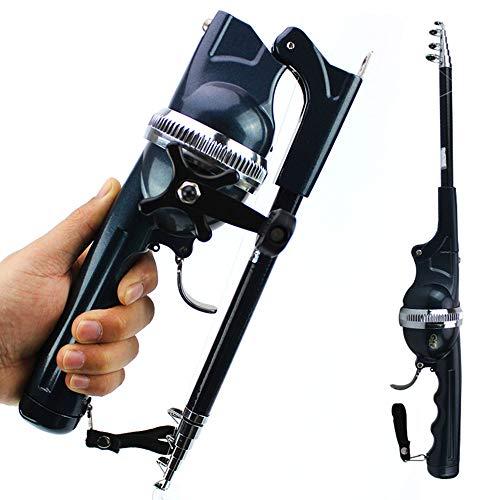 FISHYY Canna Da Pesca Mini Canna Da Pesca Telescopica Tascabile A Forma Di Canna Da Pesca Pieghevole Con Mulinello Portatile 2020