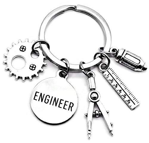 Engineer Keychain Mechanical Engineer Design Engineering...