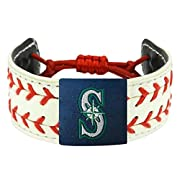 Bracelets are made of genuine baseball leather Officially licensed by Major League Baseball Contains official team logo One-size-fits-all wear the game