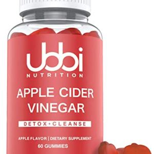 Apple Cider Vinegar Gummies by Ubbi Nutrition (60 Day Supply) with The Mother - Detox Support Vegetarian, Vitamin B6 & B12, Pomegranate, Beetroot ACV 6 - My Weight Loss Today