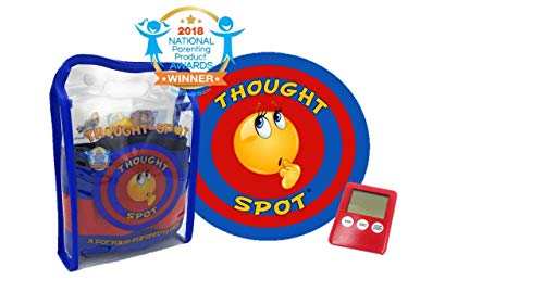 Thought-Spot - A Portable Parenting Time Out Mat with Digital Timer- 24 Inch Diameter Made from Recyclable Non-Toxic Materials
