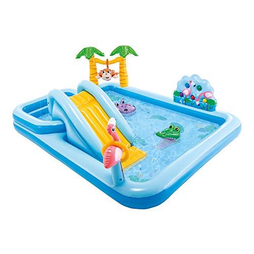 Intex 57161 Adventure Play Center - Giungla, Gonfiabile 257 x 216 x 84 cm, Azzurro (Multicolore)