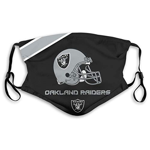 Kanteband Oakland Raiders Adjustable and Replaceable 5 - Layer Activated Carbon Filter Respirator for Unisex Use