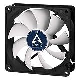 ARCTIC F9 - 92 mm Ventilador de Caja para CPU, Motor Muy Silencioso, Computadora, 1800 RPM - Negro/Blanco
