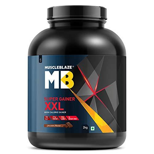 MuscleBlaze Super Gainer XXL, For Muscle Mass Gain (Chocolate, 2 kg / 4.4 lb, 20 Servings)