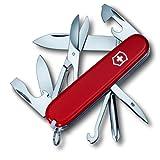 Victorinox Super Tinker Couteau de Poche Suisse, Léger, Multitool, 14 Fonctions, Lame, Ouvre Boite, Rouge
