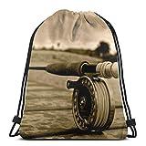 AEMAPE Bolsas con cordón, Mochila para Herramientas de Pesca, Bolsas con Cuerdas para Tirar, Almacenamiento Deportivo a Granel, Gimnasio para Mujeres, Mochila de béisbol Resistente al Agua