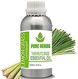 Pure Herbs Aceite esencial de hierba de limón (CYMBOPOGON) puro y natural de...
